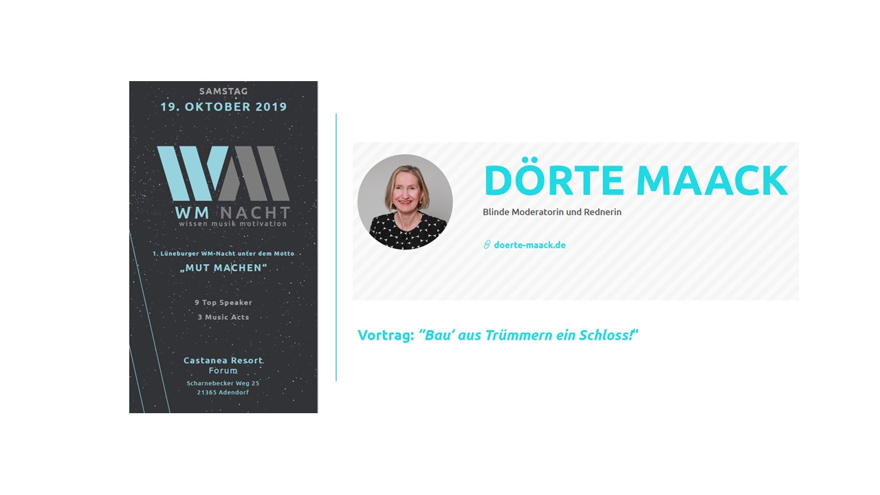 19.10.2019 Dörte Maack | 1. Lüneburger WM-Nacht